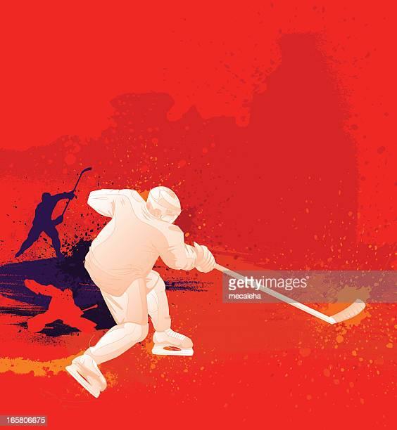 hockey design - ice hockey stick stock illustrations