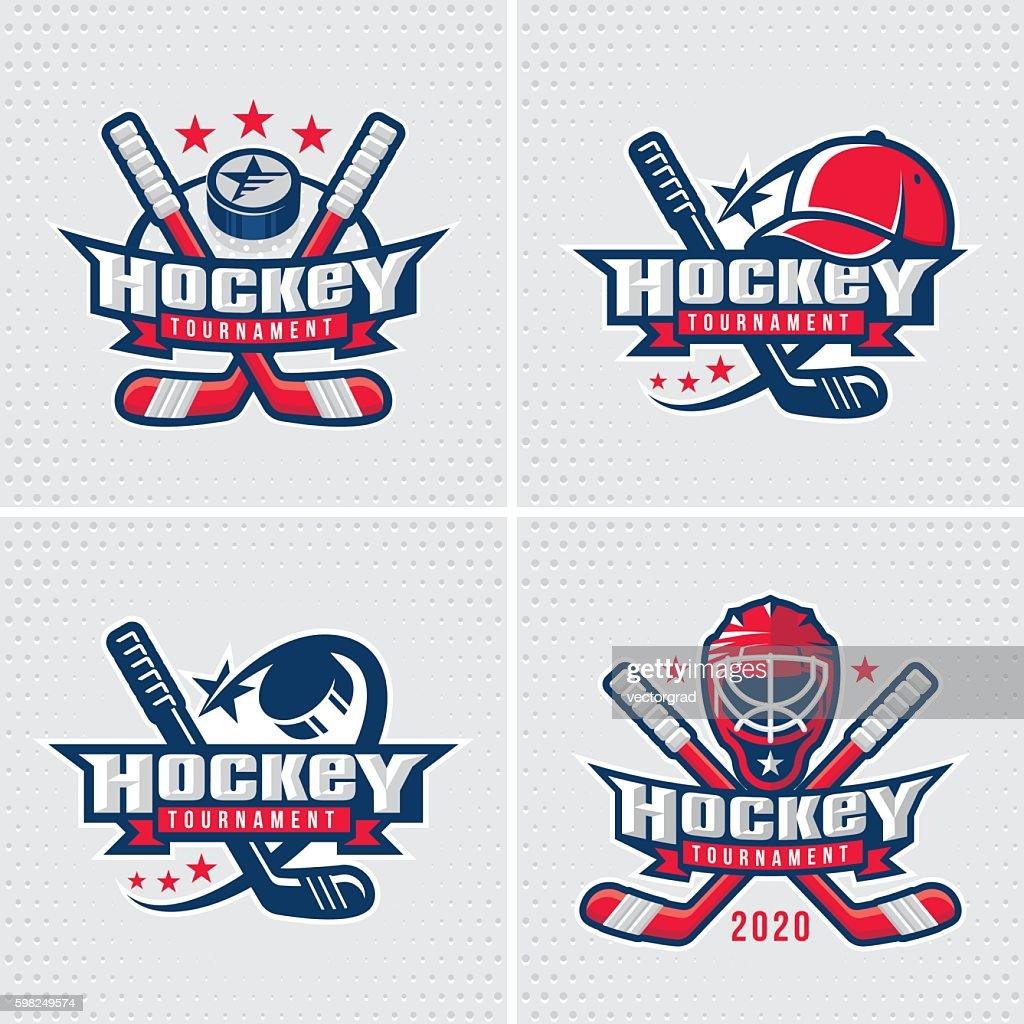 Hockey emblem template