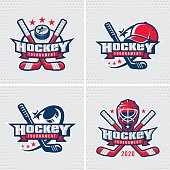 Hockey emblem template