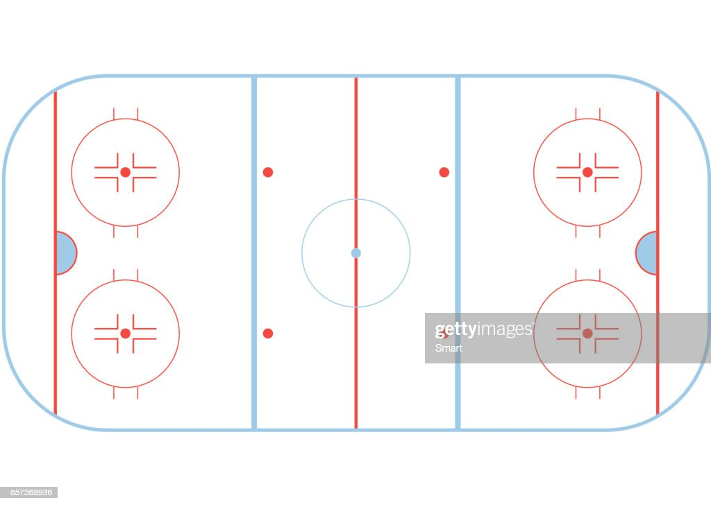 Hockey field. Playing field on the white background