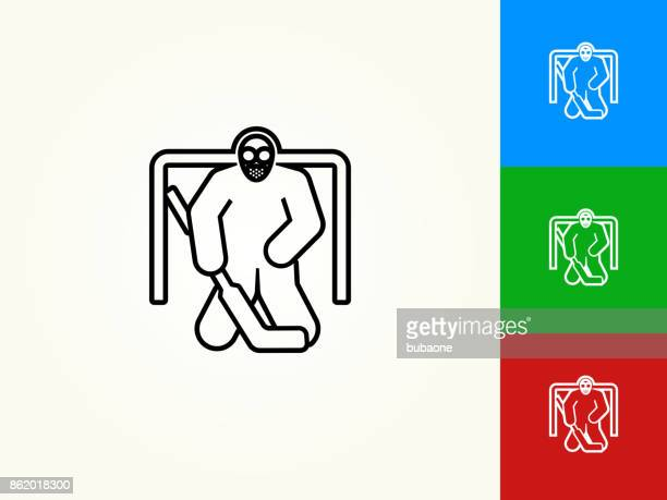 Hockey Goalie Black Stroke Linear Icon Stock Illustration Getty Images