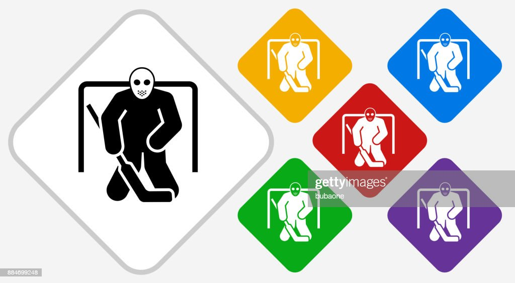 Hockey Goalie Color Diamond Vector Icon Stock Illustration Getty