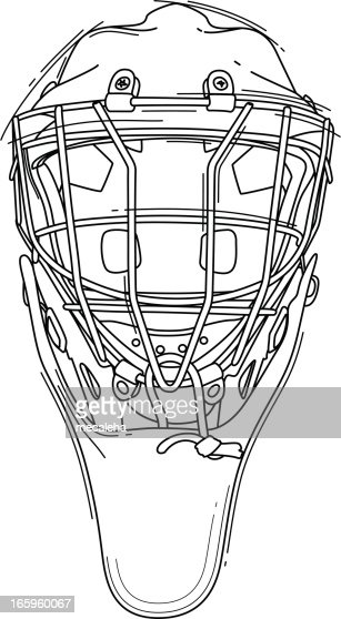 Hockey Goalie Helmet Vector Art Getty Images