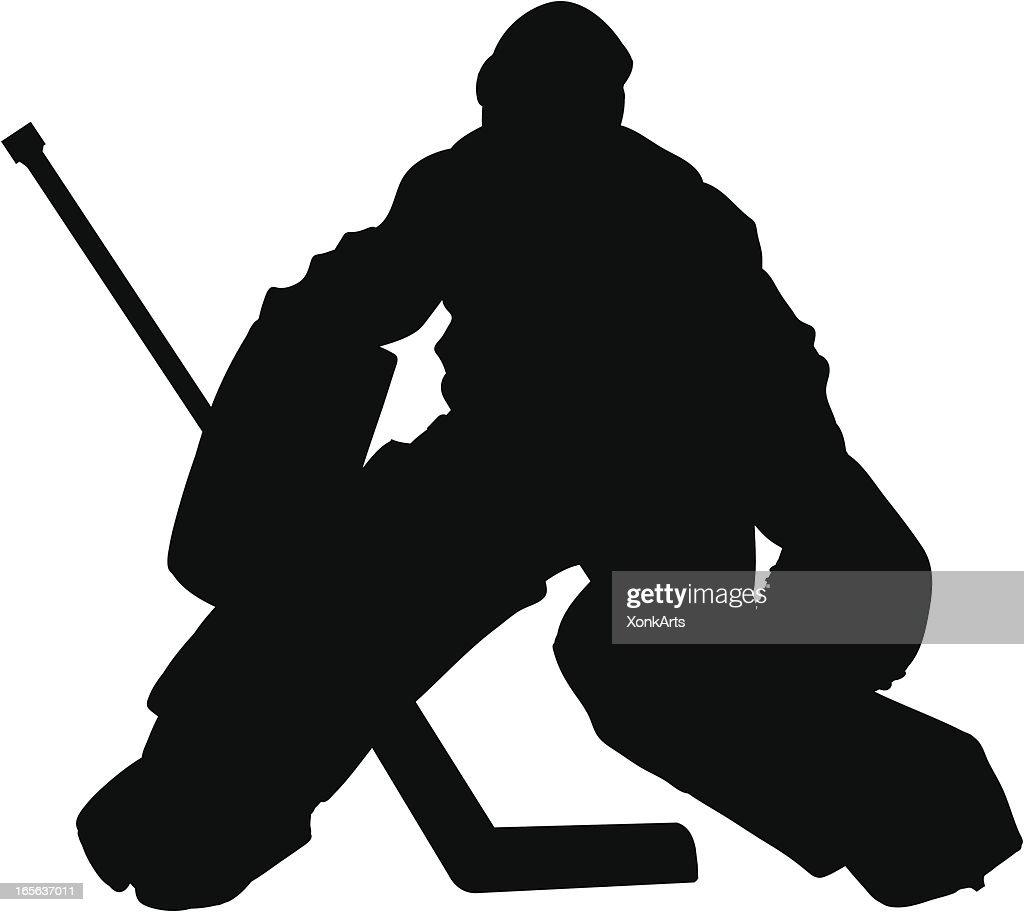Hockey Goalie Slhouette Stock Illustration Getty Images