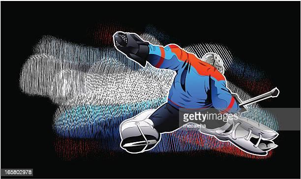 hockey goalie - goalkeeper stock illustrations