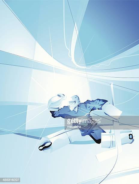 ホッケーゴールキーパー - アイスホッケースティック点のイラスト素材/クリップアート素材/マンガ素材/アイコン素材