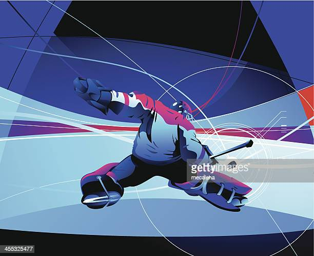 hockey goalie - hockey stock illustrations, clip art, cartoons, & icons