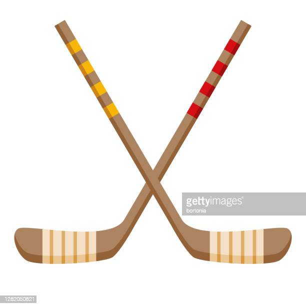 hockey icon on transparent background - winter sports event stock illustrations