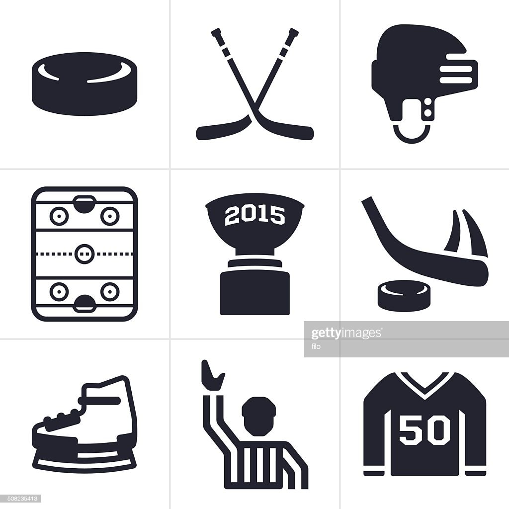 Hockey Icons And Symbols Vector Art Getty Images