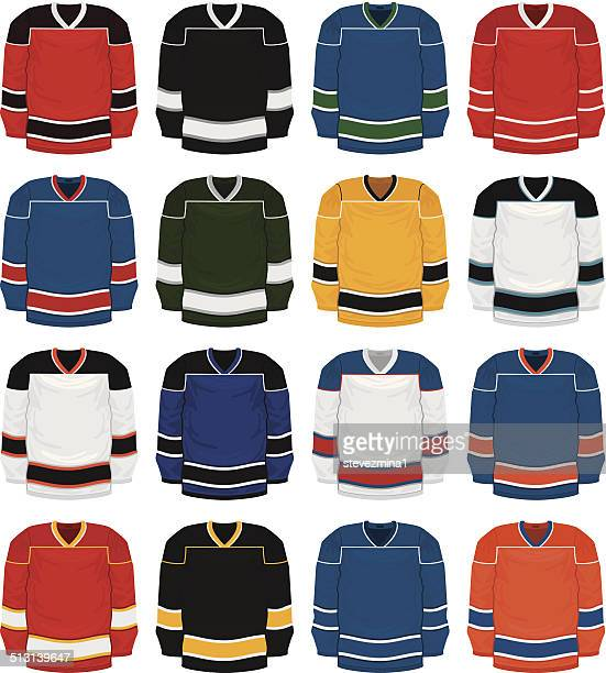 hockey jersey set - sports jersey stock illustrations