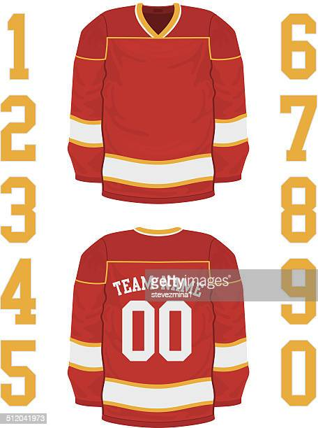 hockey jersey - sports jersey stock illustrations