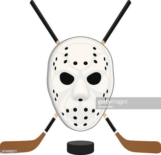 Hockey Mask, Puck and Sticks