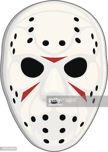 hockey mask - hockey stock illustrations, clip art, cartoons, & icons