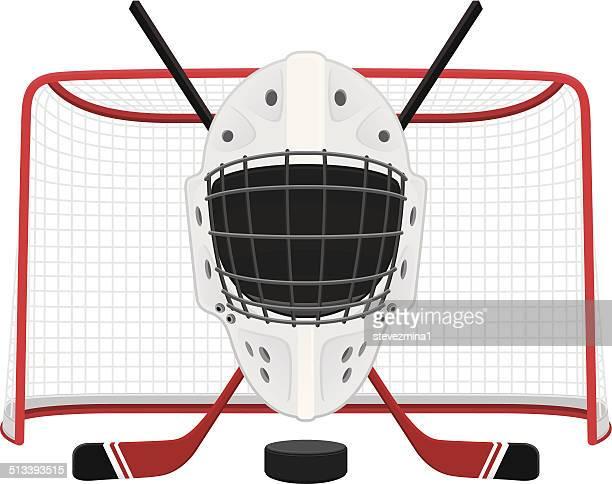 ilustraciones, imágenes clip art, dibujos animados e iconos de stock de máscara de hockey - hockey sobre hierba