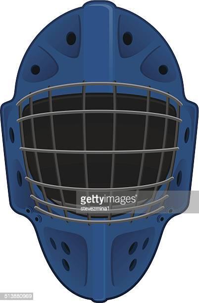 hockey mask - ice hockey uniform stock illustrations