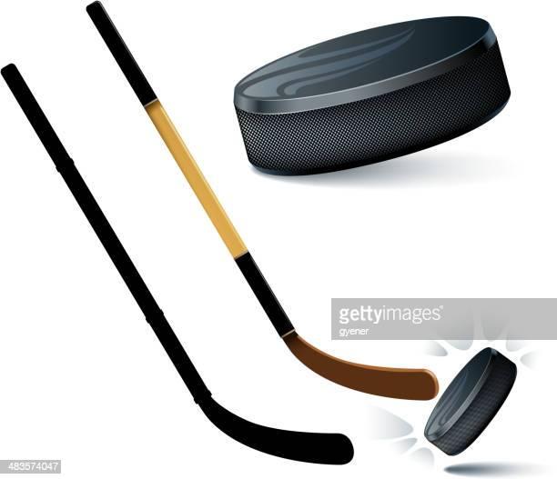 ilustraciones, imágenes clip art, dibujos animados e iconos de stock de materiales de hockey - hockey sobre hierba
