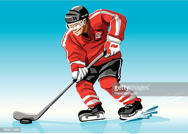 Hockey Player Red