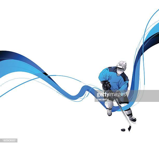 hockey player - hockey stock illustrations, clip art, cartoons, & icons