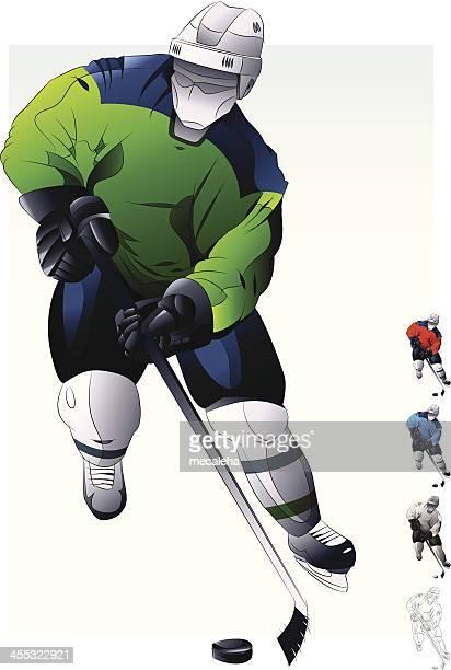 hockey player. - ice hockey uniform stock illustrations