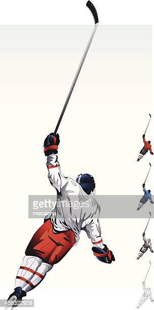 hockey player. - ice hockey player stock illustrations