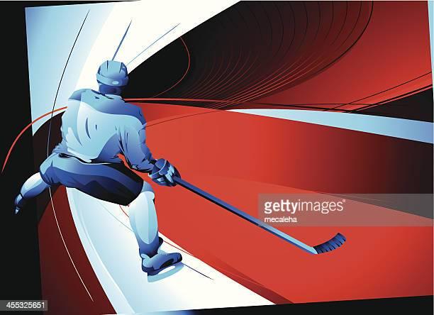アイスホッケー選手 - アイスホッケースティック点のイラスト素材/クリップアート素材/マンガ素材/アイコン素材