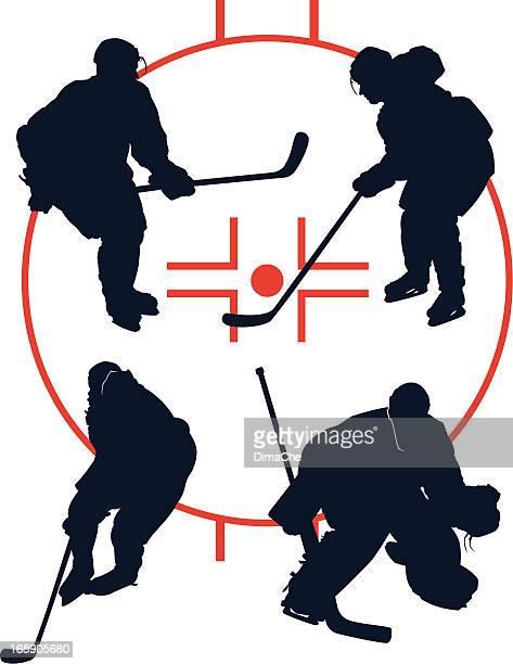 hockey players - ice hockey glove stock illustrations