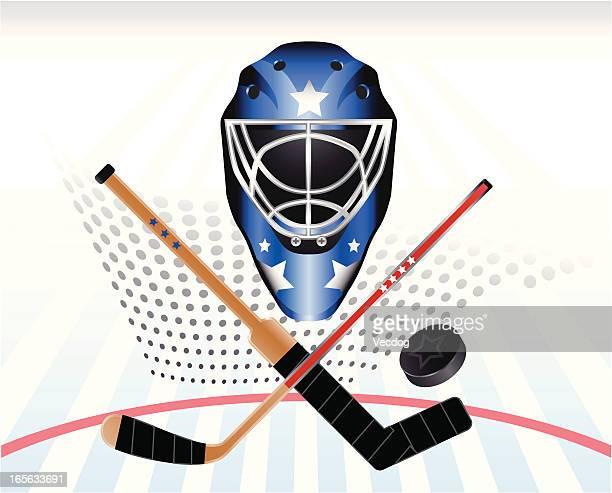 hockey power - goalkeeper stock illustrations