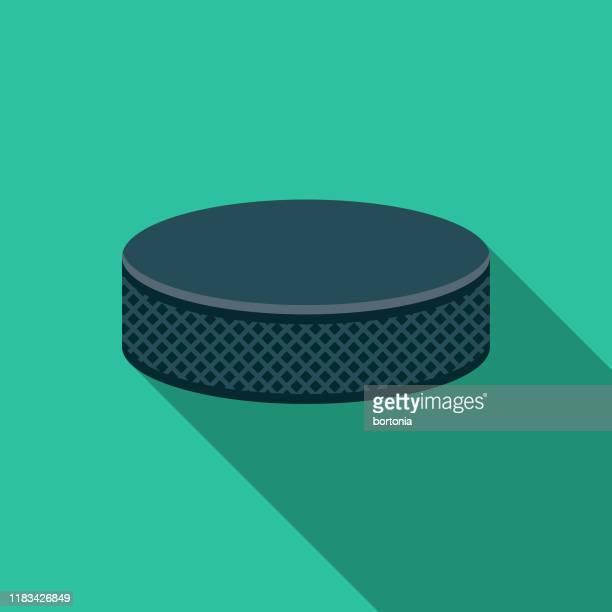 hockey puck icon - puck stock illustrations
