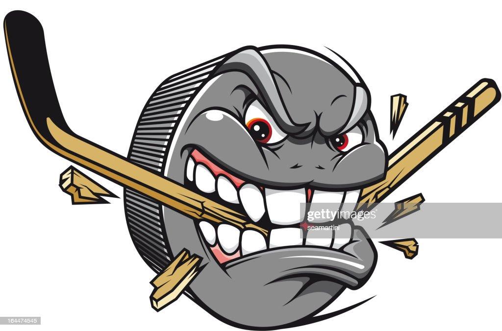 Hockey puck mascot