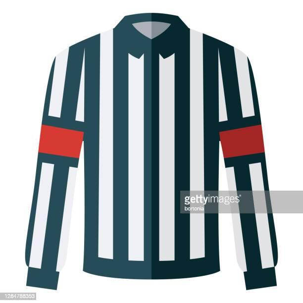 hockey referee jersey icon on transparent background - ice hockey uniform stock illustrations