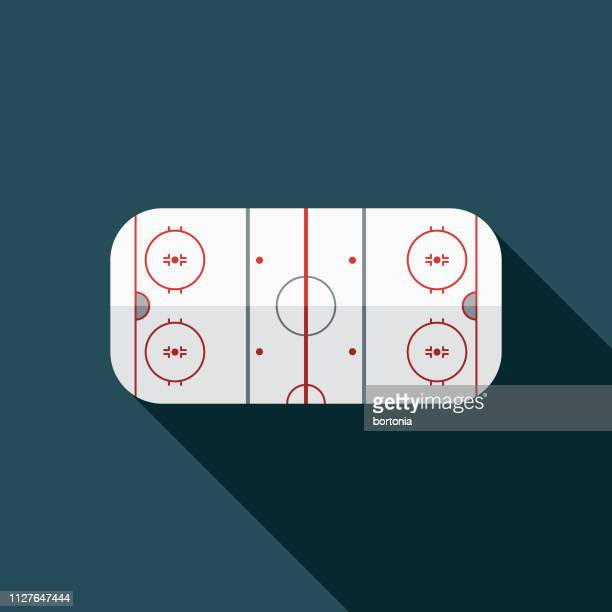 ホッケー スケート リンク冬のスポーツ アイコン - アイスホッケー場点のイラスト素材/クリップアート素材/マンガ素材/アイコン素材