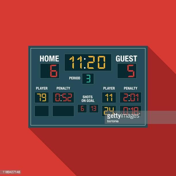 hockey scoreboard icon - point scoring stock illustrations