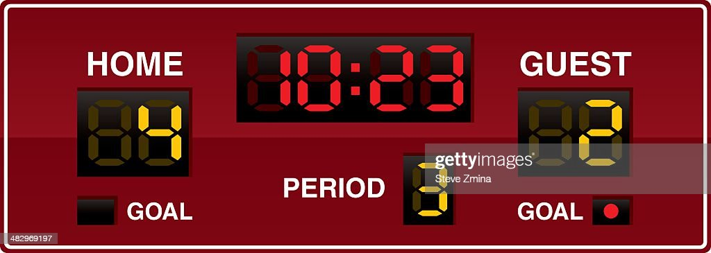 Hockey Scoreboard : Stock Illustration