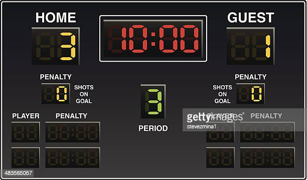 hockey scoreboard - hockey stock illustrations, clip art, cartoons, & icons
