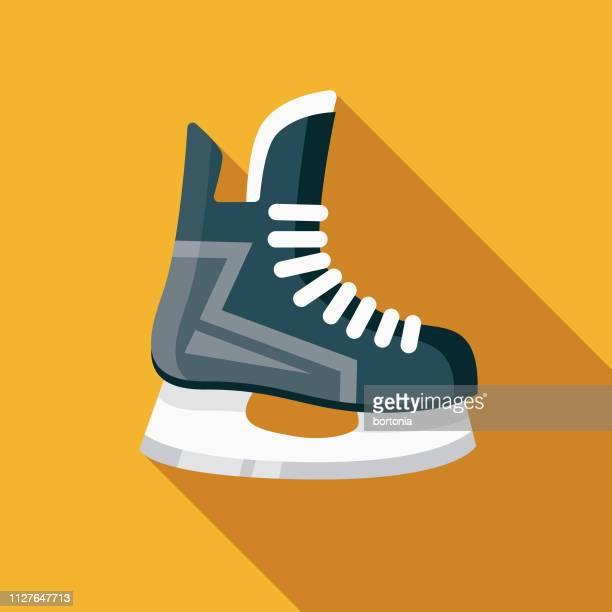 stockillustraties, clipart, cartoons en iconen met hockey schaatsen wintersport pictogram - schaatsen