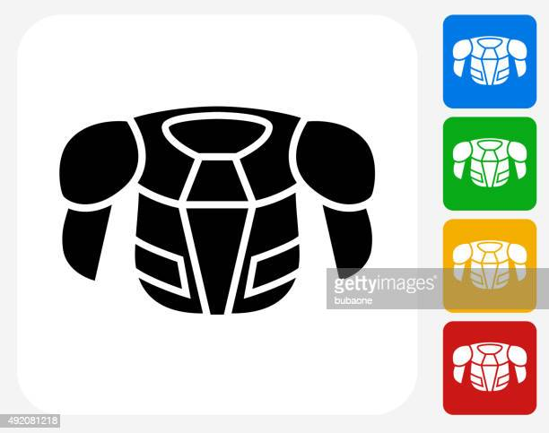 hockey sports wear icon flat graphic design - jersey fabric stock illustrations