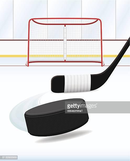 hockey - ice hockey stick stock illustrations