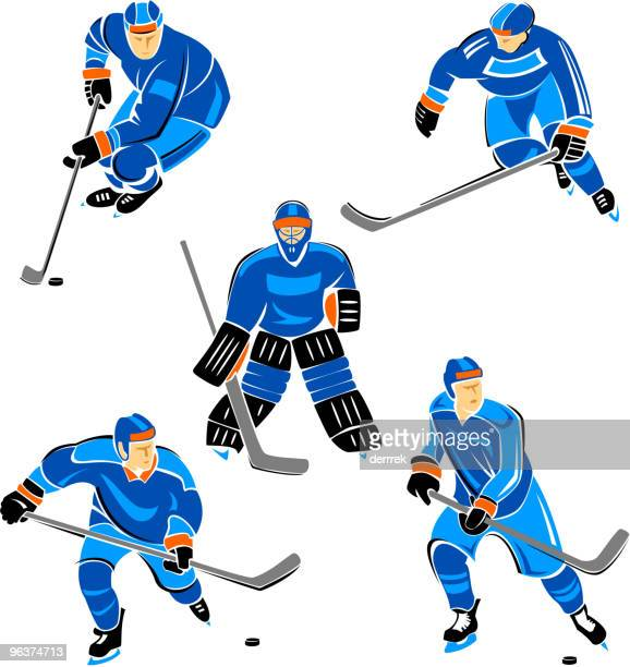 hockey - ice hockey player stock illustrations