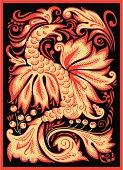 Hohloma. Red dragon