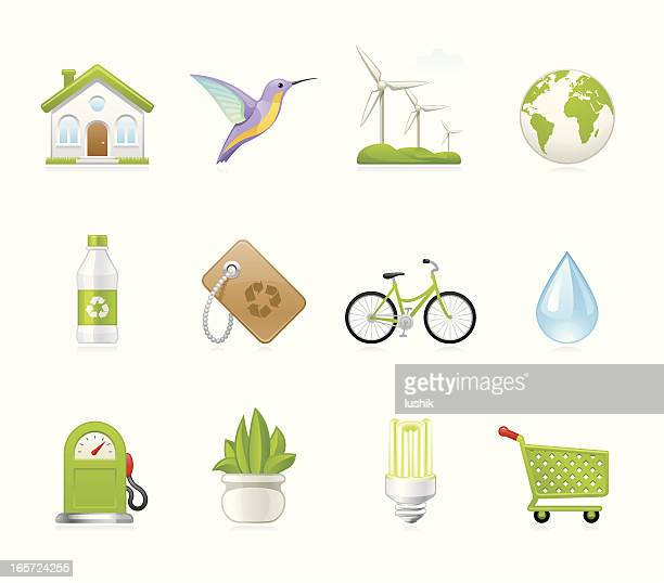 hola icons - environmental conservation - biodiesel stock illustrations, clip art, cartoons, & icons