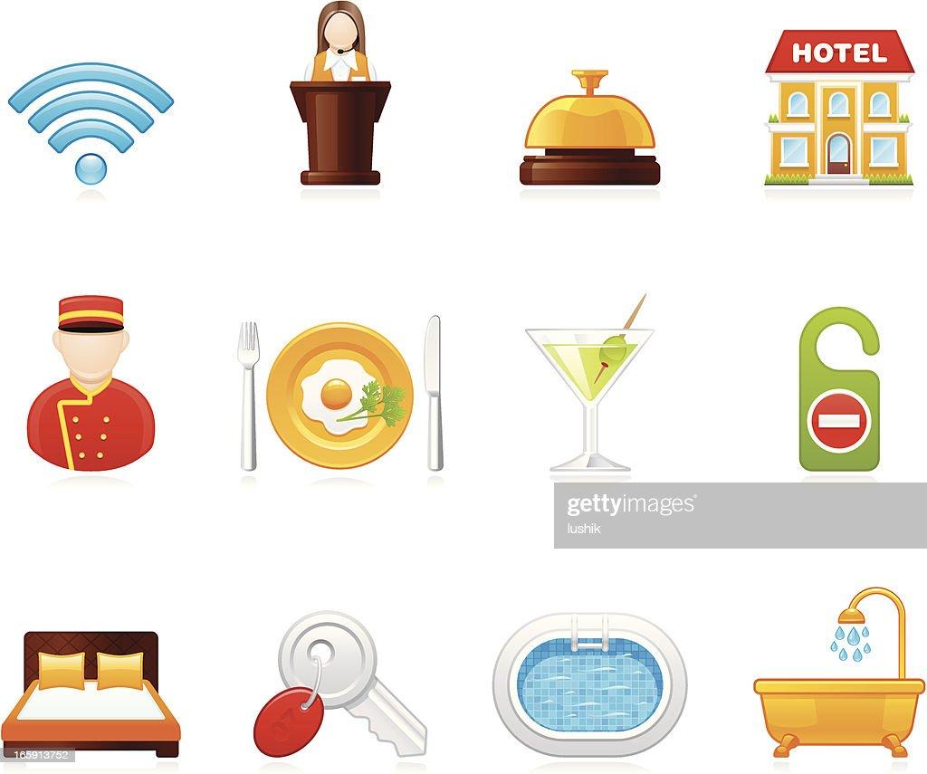 Hola icons - Hotel : stock illustration