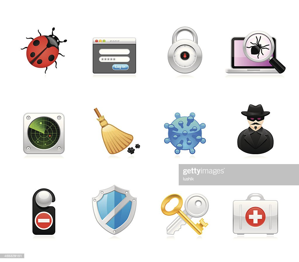 Hola icons - Network Security : stock illustration
