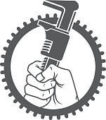 Holding a wrench