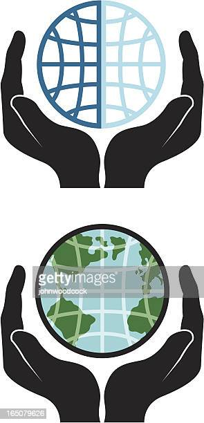 holding globe - surrounding stock illustrations, clip art, cartoons, & icons