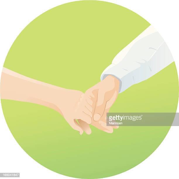 Holding Hands - Vector