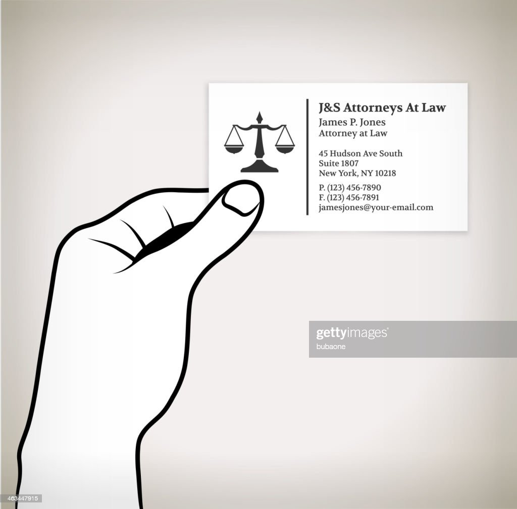 Holding Lawyer Business Card Vector Art | Getty Images
