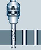 Hole drilling process