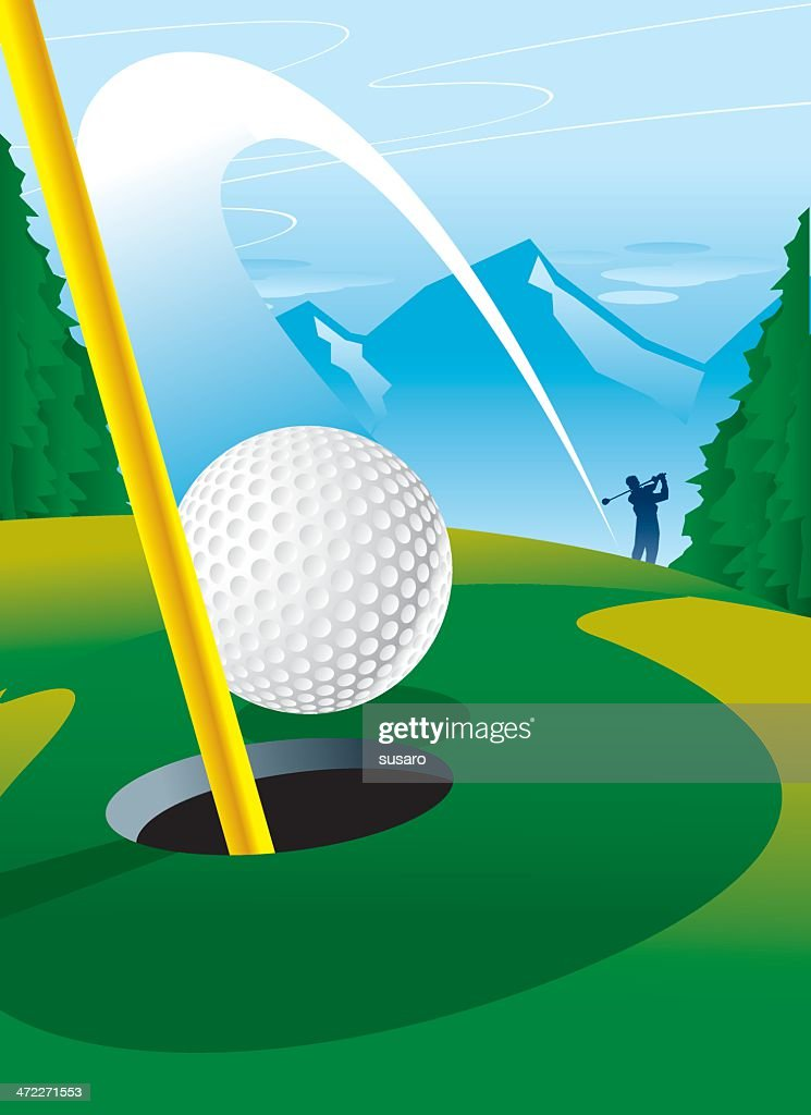 Hole-In-One : stock illustration