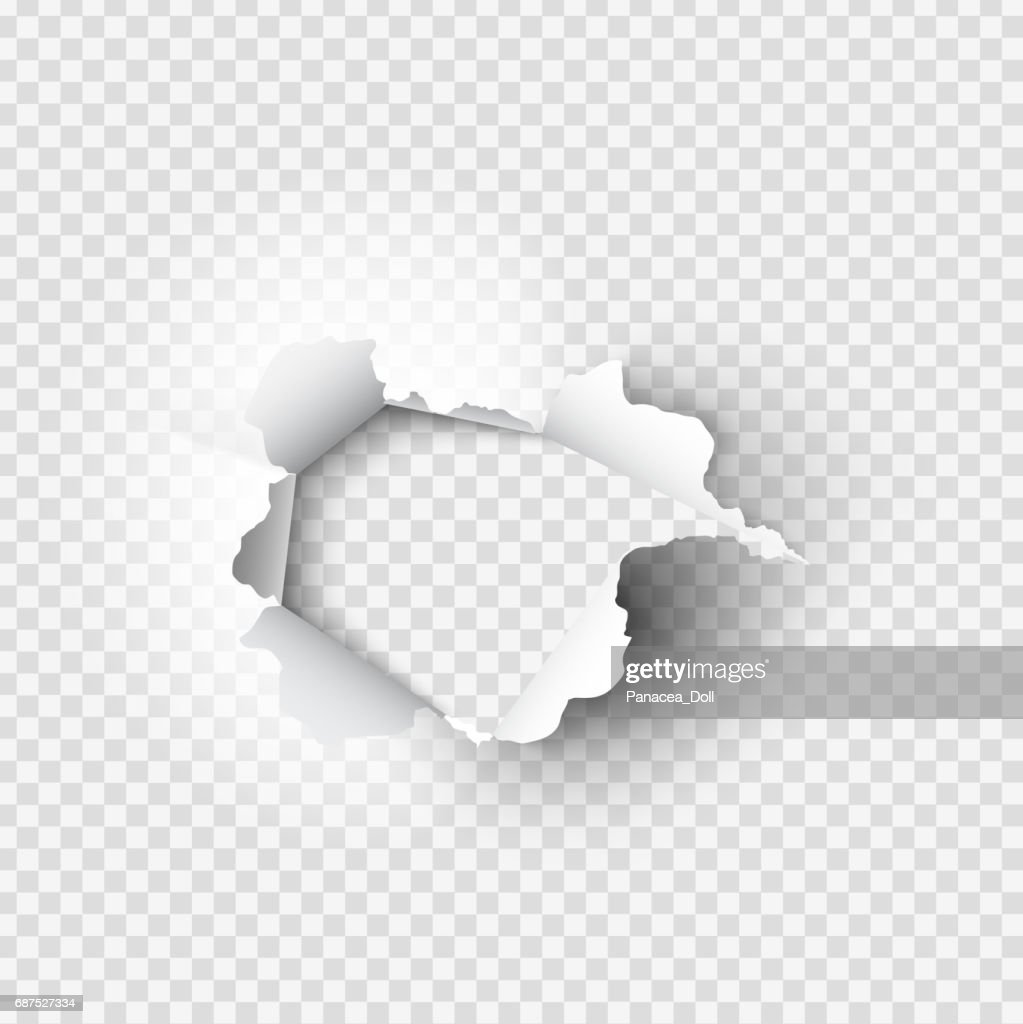 holes torn in paper on transparent background vector art | getty images