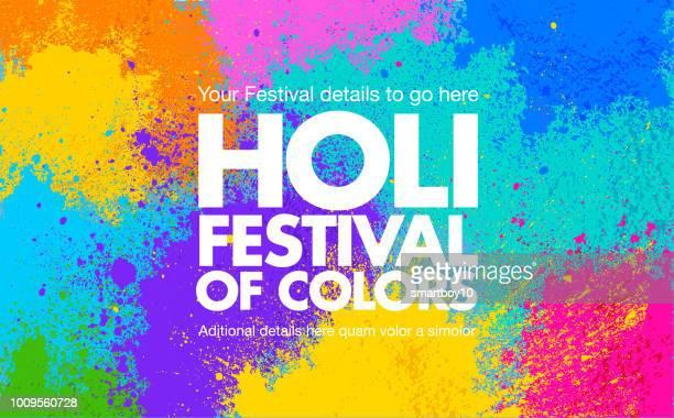 ホーリーのお祝いカードやポスター - 伝統的な祭り点のイラスト素材/クリップアート素材/マンガ素材/アイコン素材